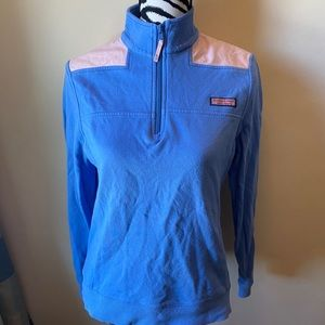 Vineyard Vines Shep shirt blue with pink size S